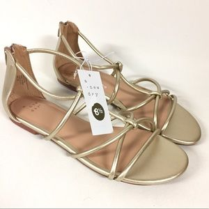 A New Day Gold Samina Strappy Flat Sandals